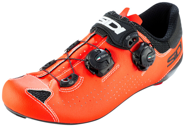 Sidi Genius 10 Schuhe Herren blackred fluo